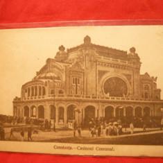 Ilustrata Constanta - Cazinoul comunal 1919, circ., cenzurata, Ed.R.O.David si Saraga - Carte Postala Dobrogea dupa 1918