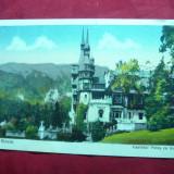Ilustrata Sinaia - Castelul Peles - cu terasa, cca. 1937 - Carte Postala Muntenia dupa 1918
