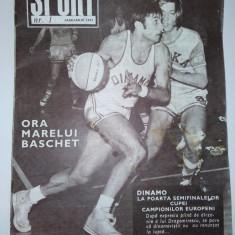 Revista SPORT Nr. 1 / 1973 Articol : Cornel Dinu ( coperta spate) BOX