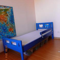 Pat pentru copii - Patut lemn pentru bebelusi Ikea, Albastru