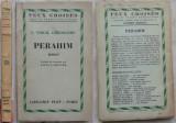 Constantin Virgil Gheorghiu , Perahim , roman , Plon , Paris ,1961 , cu autograf, Alta editura