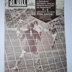 Revista SPORT Nr. 20 / 1973 Articol : album fotbalistic : Jiul Petrosani