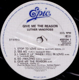 Luther Vandross - Give Me The Reason (Vinyl)
