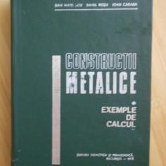 DAN MATEESCU--CONSTRUCTII METALICE-exemple de calcul