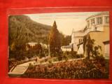 Ilustrata Herculane - Vila Fr.Josef , curte interioara ,sfarsit sec.XX