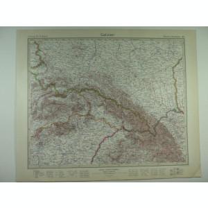 HARTA VECHE - GALITIA - DIN STIELERS HAND ATLAS - ANUL 1928