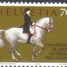 ELVETIA 1982, Fauna - Cai, serie neuzata, MNH