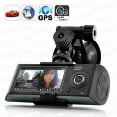 Dual Camera auto scoala soferi camera video auto video Camera X 3000 HD Car DVR camera GPS X3000