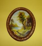 Tablou peisaj de toamna - rama din ceramica
