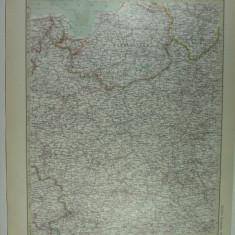 HARTA VECHE - POLONIA - DIN STIELERS HAND ATLAS - ANUL 1928 - EDITOR GOTHA JUSTUS PERTHES - DR.H.HAACK