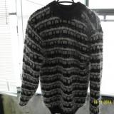 Pulover pentru sezonul rece cu model deosebit, Khaki
