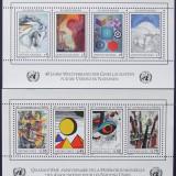 NATIUNILE UNITE GENEVA SI VIENA 1986 - PICTURI 2 M/SH, NEOBLITERATE - E0315