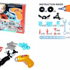 Bormasina electrica copii - Jucaria micilor ingineri!, Plastic, Baiat
