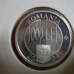 1000 LEI 2004 EMISIUNE SPECIALA CALITATE BRILIANT UNC, PROOF, 2.000 EXEMPLARE