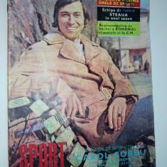 Revista SPORT (color) Nr. 6 / 1973 Album Fotbalistic : Steaua ( miniposter) BOX