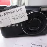 APARAT FOTO CANON A 2200/CARD DE 4GB/NU OFERIM ACCESORII(LM3)