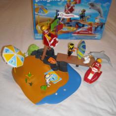 Playmobil 3664 - Plaja cu salvamar (4 ani+) - Set de constructie
