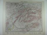 HARTA VECHE - MORAVIA SLOVACIA - DIN STIELERS HAND ATLAS - ANUL 1928