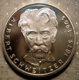 10.191 GERMANIA PERSONALITATI ALBERT SCHWEITZER 5 DEUTSCHE MARK 1975 G PROOF ARGINT 11,2g, Europa