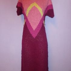 Rochie tricotata - hand knit - - Rochie tricotate, Marime: M/L, Multicolor, M, 3/4, Scurta