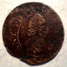 F.056 FRANTA ITALIA CHARLES I GONZAGUE 1580-1637 DOUBLE TOURNOIS 1, 92g/20mm - Moneda Medievala, Europa