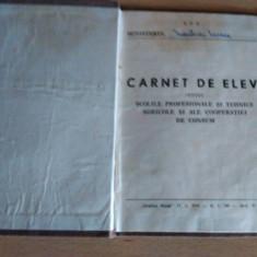 CARNET DE ELEV SCOLI PROFESIONALE ANII 60