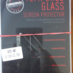 Folie sticla HTC ONE  M7 super folie temperata si securizata