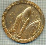 ATAM2001 MEDALIE 502 -CAMPIONATUL MONDIAL DE RACHETOMODELE -SUCEAVA 1998- ROMANIA - CUPA MONDIALA -FAI  -CUTIA ORIGINALA -starea care se vede