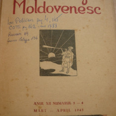 CUGET MOLDOVENESC ANUL XII NR. 3 - 4 1943 - DIR PETRE STATI, Basarabia, Balti - Revista culturale