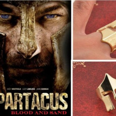 Inel Auriu Film - Spartacus Blood and Sand - Placat cu Aur - Inel placate cu aur
