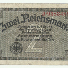 GERMANIA NAZISTA 2 MARCI MARK 1939 1940 1945 [12] Cu zvastica! - bancnota europa