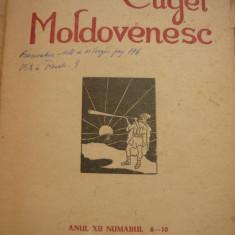 CUGET MOLDOVENESC ANUL XIII NR. 10 - 1943 - DIr. PETRE STATI, Basarabia, Balti - Revista culturale