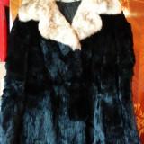 Haina din blana naturala de nurca marimea 40, este noua! Oferta!, Culoare: Negru