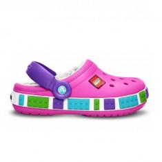 Papuci Crocs imblaniti Crocband Mammoth LEGO Clog Kids (CRC14631-MAG ) - Papuci copii Crocs, Marime: 25.5, 32.5, Culoare: Magenta