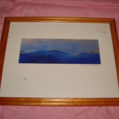Frumoasa pictura pe carton, semnata Annika Ask - Pictor strain