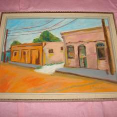 Frumoasa pictura pe carton, semnata I. Randon