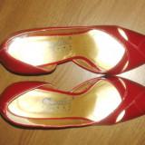 Pantofi lac CORYLLUS, 37.5, Rosu, Cu toc
