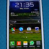 Vand telefon mobil Samsung i9300 Galaxy S III Alb (Marble White) in stare foarte buna de functionare, NECODAT + accesorii. Garantie producator 19 luni