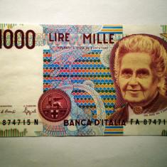 30. ITALIA MONTESSORI 1000 LIRE 1990 SR. 715