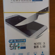 Folie sticla Samsung Note 3 model N9000  super folie temperata si securizata