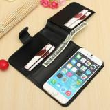 """Husa toc flip portofel Iphone 6 4,7"""", iPhone 7/8, Negru, Piele Ecologica, Apple"""