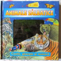 """""""ANIMALE SALBATICE. Cauta, gaseste si numara"""", 2008. Carte noua - Carte educativa"""