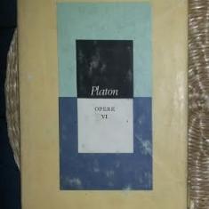 Platon OPERE VOL. 6 Dialogurile logice Ed. St. si encicl. 1989 cartonat cu supracoperta
