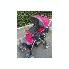 Carucior si scaun de masina DHS Baby - Carucior copii 3 in 1 DHS, Altele, Pliabil, Gri, Maner reversibil