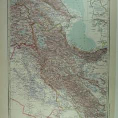HARTA VECHE - ARMENIA - MESOP0TANIA - PERSIEN - DIN STIELERS HAND ATLAS - 1928