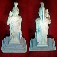 Statueta Zeita Razboinica Atena - din praf marmura pe soclu dinmarmura (gladiator, athena, sculptura, rustic, antic), Religie, Europa
