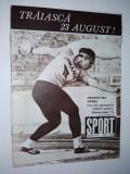 Revista SPORT Nr. 16/ 1973 Articol : Album fotbalistic F. C. Constanta, Echipa Romaniei in C. Davis : Ilie Nastase, I. Santei, Viorel Marcu, T. Ovici