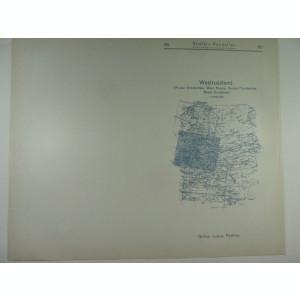 HARTA VECHE - RUSIA DE VEST OCCIDENTALA - DIN STIELERS HAND ATLAS - ANUL 1928