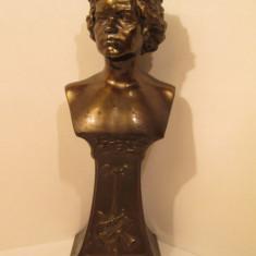 Bust Ludwig van Beethoven Secession Vienez- stilul Art Nouveau, anii 1900 - Sculptura