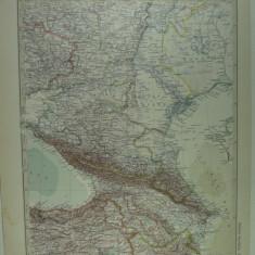 HARTA VECHE - CAUCAZUL - DIN STIELERS HAND ATLAS - ANUL 1928